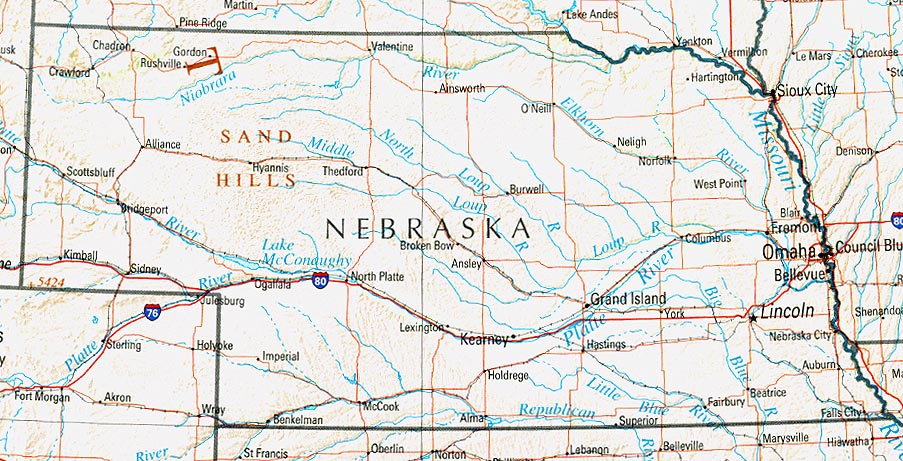 Nebraska State Maps USA Maps Of Nebraska NE Nebraska Ipl Stately - Ne map of usa