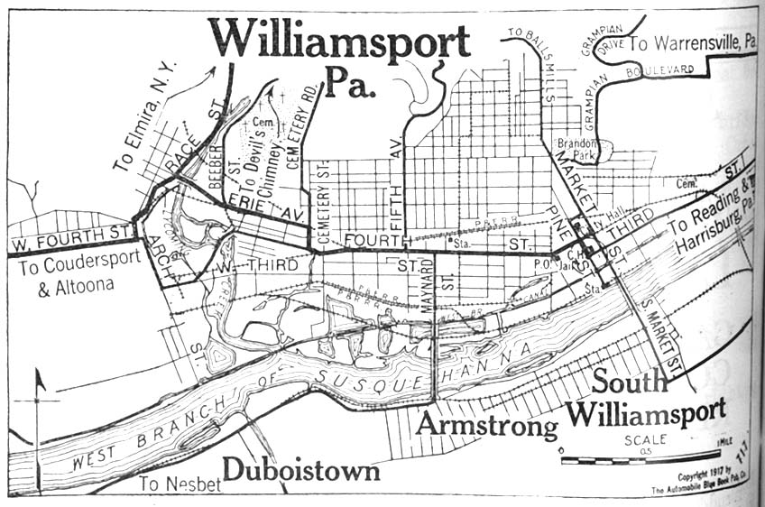 williamsport pa map
