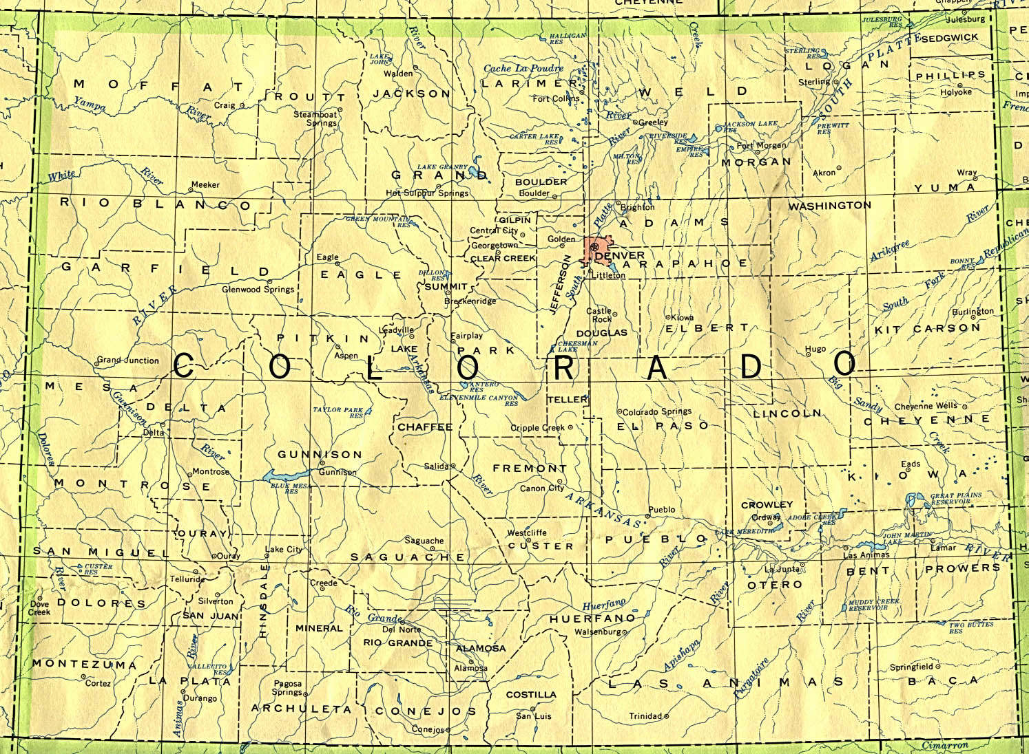 StateMaster - Maps of Colorado (22 in total)