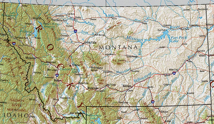 StateMaster Maps Of Montana In Total - Missoula mt us map