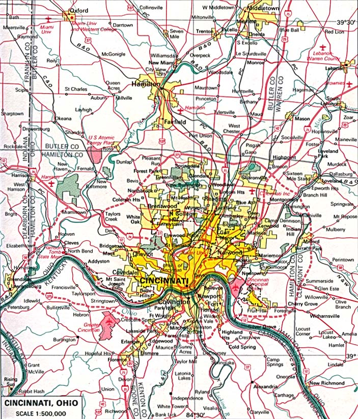 StateMaster Maps Of Ohio In Total - Maps of ohio cities