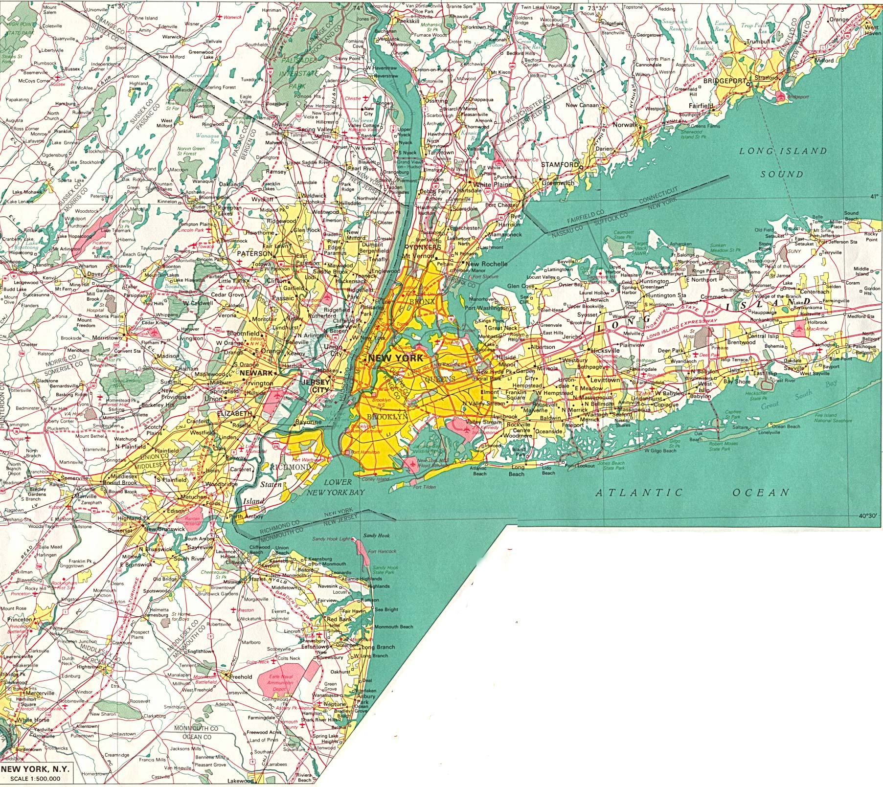StateMaster - Maps of New York (71 in total)