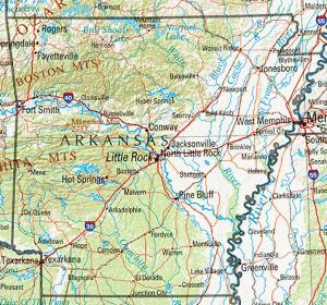 Click for larger map of Arkansas