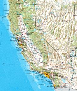 Click for larger map of California