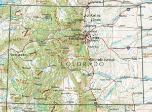 Click for larger map of Colorado