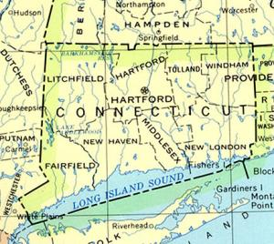 Click for larger map of Connecticut