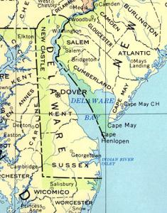 Click for larger map of Delaware