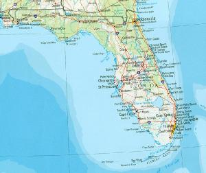 Click for larger map of Florida