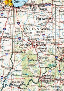Click for larger map of Indiana