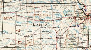 Click for larger map of Kansas
