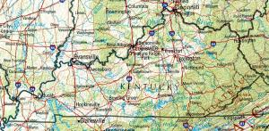 Click for larger map of Kentucky