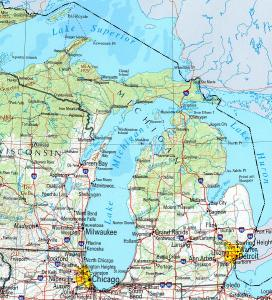 Click for larger map of Michigan