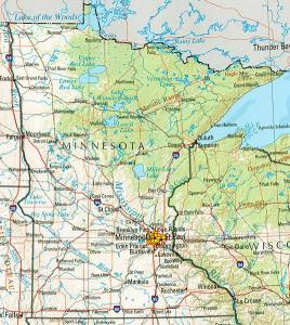 Click for larger map of Minnesota