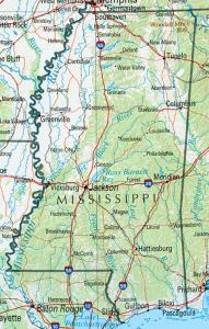Click for larger map of Mississippi
