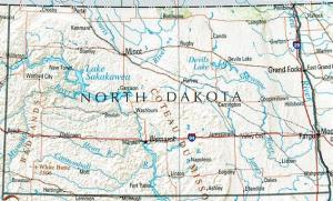 Click for larger map of North Dakota