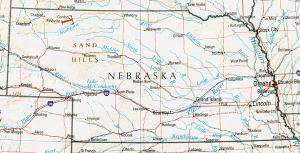 Click for larger map of Nebraska