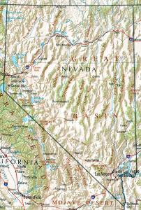Click for larger map of Nevada