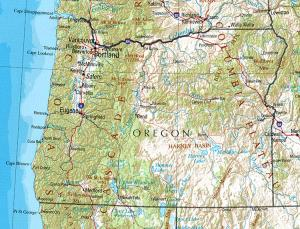 Click for larger map of Oregon