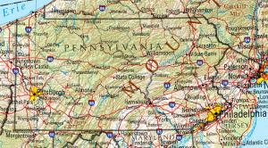 Click for larger map of Pennsylvania