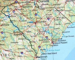 Click for larger map of South Carolina