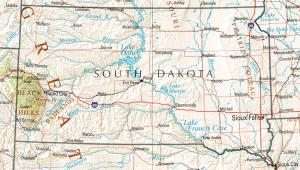 Click for larger map of South Dakota