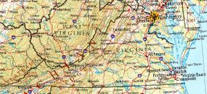 Click for larger map of Virginia
