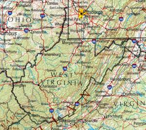 Click for larger map of West Virginia
